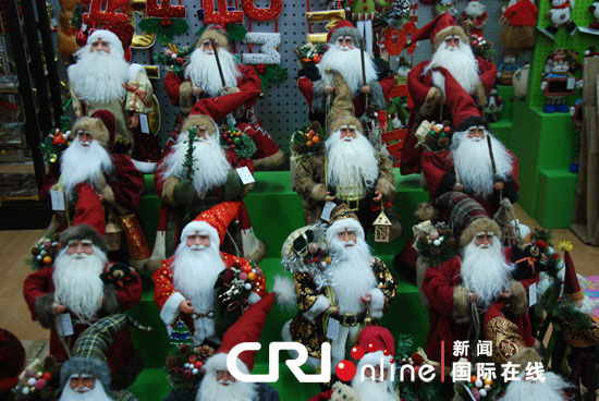 'Made in China' Christmas products sweep the globe