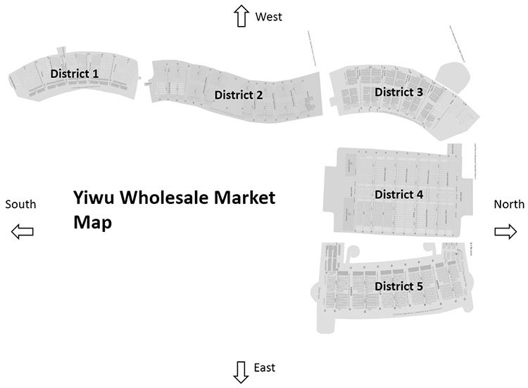 "The overview of ""Yiwu Wholesale Market Map"""