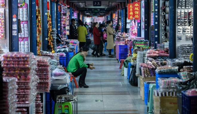 Yiwu market was started by farmers, not the central government.